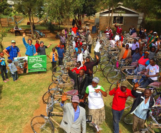 Give a bicycle for Christmas and change a life, or four!