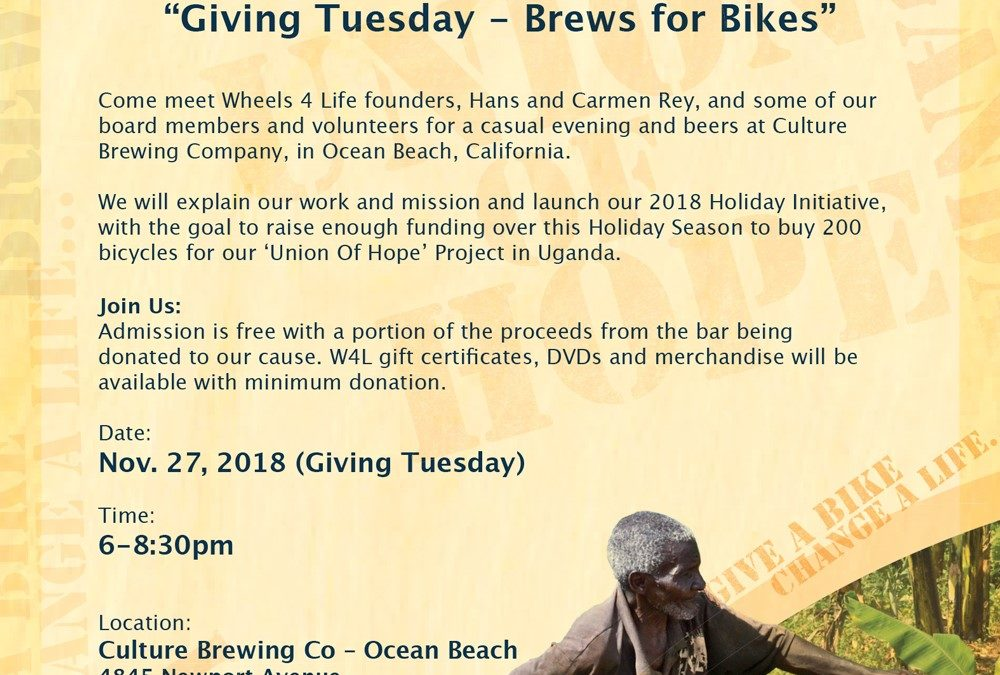 Giving Tuesday – Brews for Bikes
