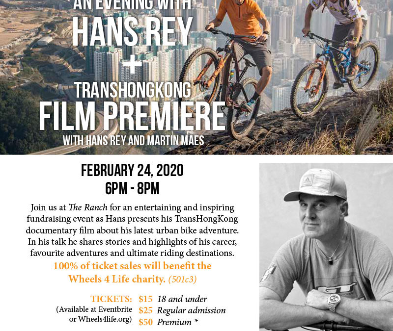 An Evening with Hans Rey &amp TransHongKong Film Premiere Fundraiser